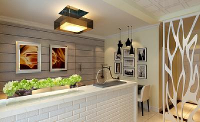 装修效果图欣赏:50平米现代个风格一居室-中国搜索
