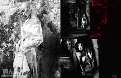 诗诗 首次/施诗曝光一组看点十足的性感写真,魅惑风格中的她造型出位、...
